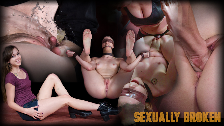 Bound and helpless while having sex
